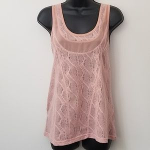 UO Silence  + Noise Lace Textured Seam Tank